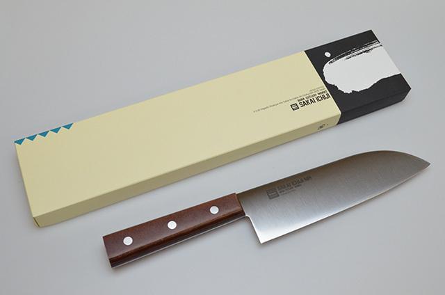 【馬場刃物製作所】SAKAI ICHIJ I808 三徳包丁 180mm