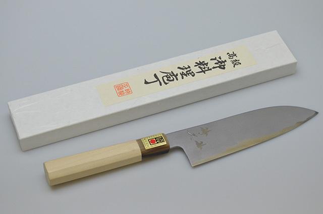 【山本刃剣】堺英 三徳包丁 鶴 180mm