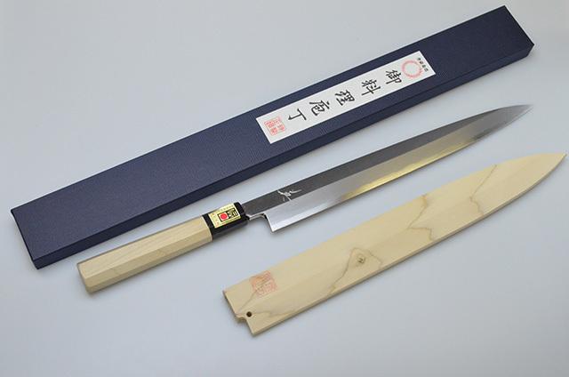 【山本刃剣】堺英 柳刃包丁 300mm サヤ付
