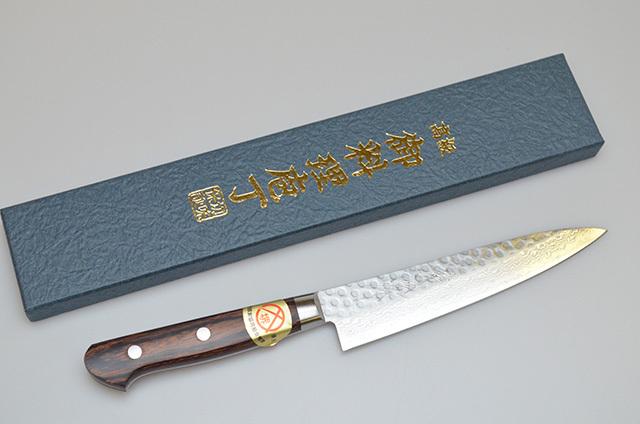 【山脇刃物製作所】鍛造ダマスカス ペティナイフ 135mm