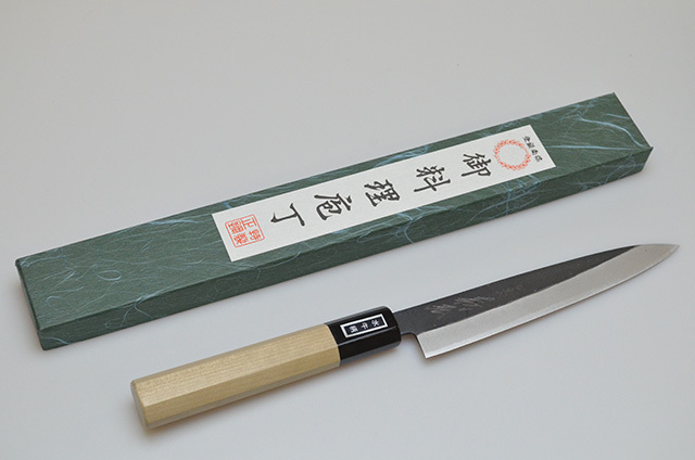 【山脇刃物製作所】本格堺 黒打ペティナイフ 150mm