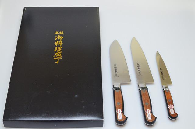 【村田刃物】菊虎 別作DCK三丁セット(三徳・牛刀・ペティ)