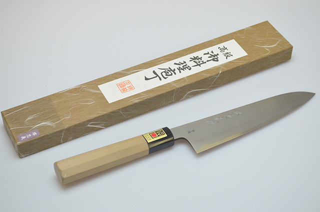 【牧田商店】堺忠義作 牛刀型両刃包丁 185mm