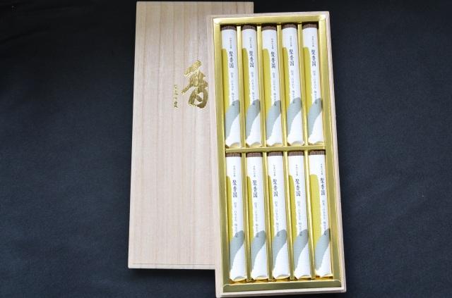 【梅栄堂】沈香好文木短寸小把 10把入桐箱