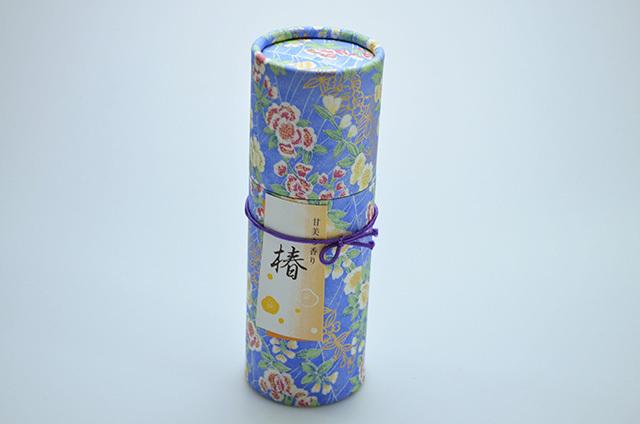 【奥野晴明堂】和柄 スタンドタイプ 椿黄(甘美な香り) 円筒形