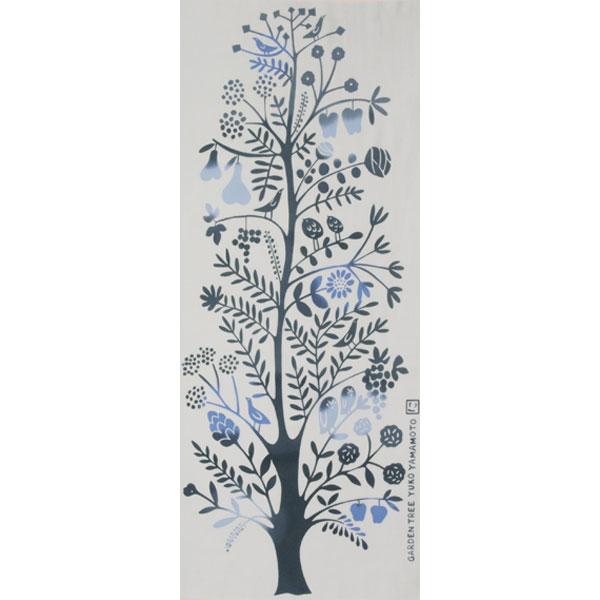 【にじゆら】手ぬぐい GARDEN TREE ブルー