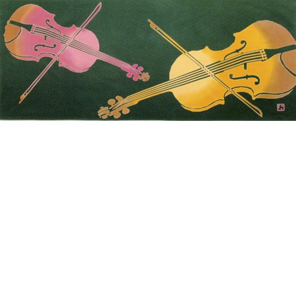 【にじゆら】手ぬぐい ヴァイオリン