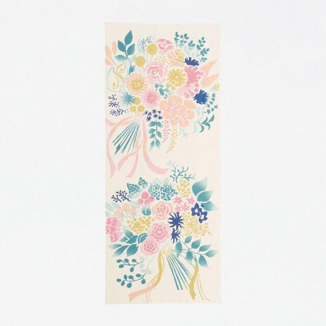 【にじゆら】手ぬぐい Bouquet  ピンク
