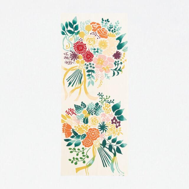【にじゆら】手ぬぐい Bouquet 赤