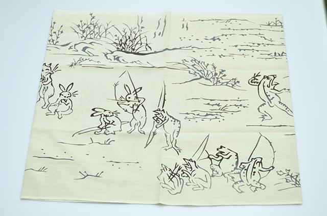 【堺注染和晒興業会】注染手ぬぐい 鳥獣戯画