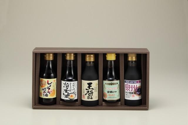 【大醤】しゅうゆ味くらべセット詰合せ 5本入