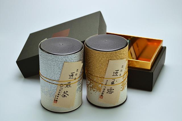 【つぼ市製茶本舗】匠の利休 煎茶・玉露詰合せ2本入