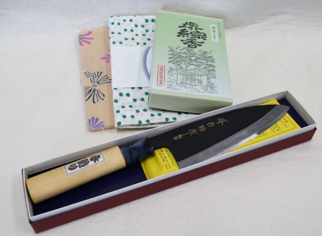 【川澤刃物工業】白鶴作 打刃物 ブロンズ出刃 150mm※1月末まで