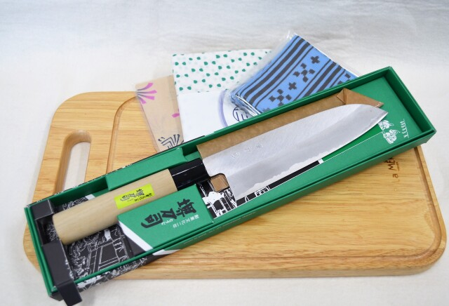 【和泉利器製作所】文化包丁180mm鋼・カッティングボード※1月末まで