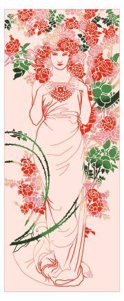 【にじゆら】ミュシャ 薔薇 original