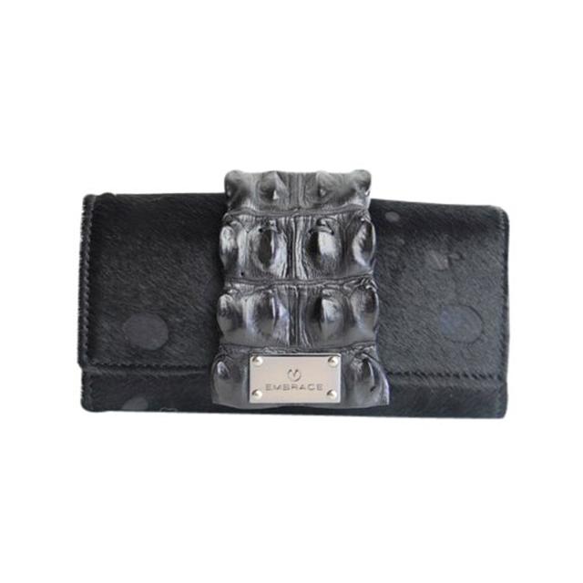 EMBRACE(エンブレイス)ハラコxクロコ長財布