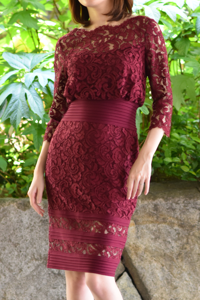 Pleat Waist Lace Dress【2泊3日】