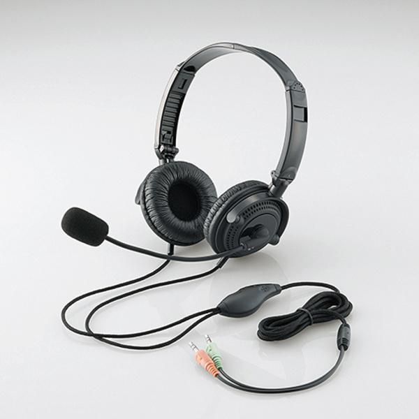 エレコム HS-HP20BK ヘッドセット(両耳オーバーヘッド)