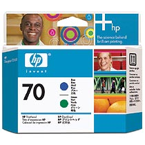 HP HP70 プリントヘッド ブルー/グリーン C9408A