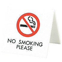 光 V字型プレートNO SMOKING PLEASE UP662-4