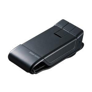 サンワサプライ CAR-HLD9BK スマートフォン用クリップ型車載ホルダー(強力ゲル吸盤)