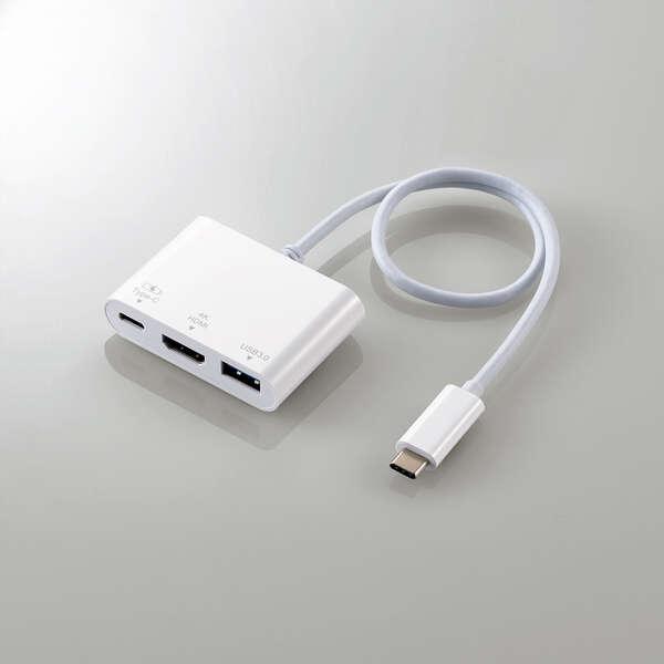 エレコム DST-C13WH Type-Cドッキングステーション HDMIモデル ホワイト