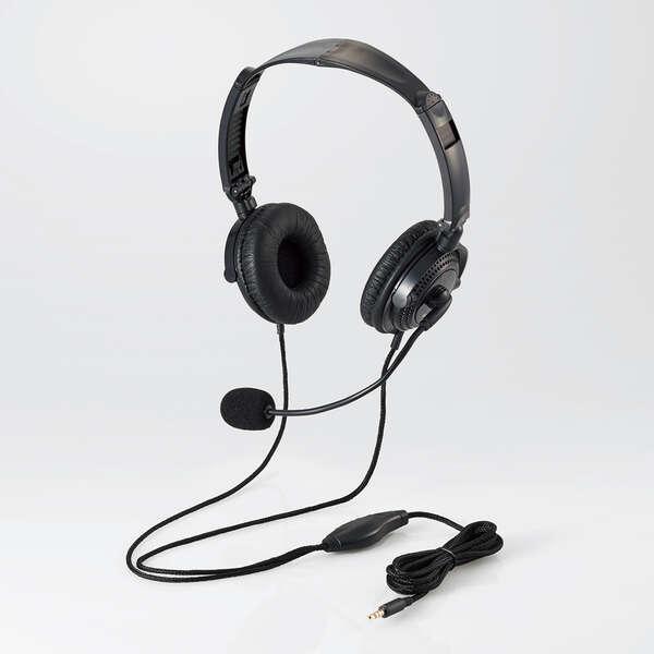 エレコム HS-HP20TBK ヘッドセット(4極両耳折りたたみオーバーヘッド)