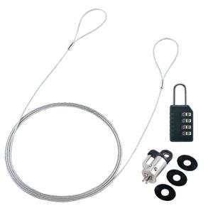サンワサプライ SL-60 パソコンセキュリティワイヤーロック(ダイヤル錠タイプ)