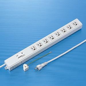 サンワサプライ TAP-3811NFN ノイズフィルタタップ(3P・8個口・2m)