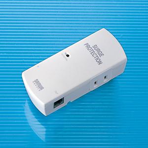 サンワサプライ TAP-SPTEL2N 高性能雷ガードタップ(2P・2個口)
