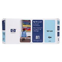 HP No.81プリントヘッド/プリンタヘッドクリーナ ライトシアン C4954A