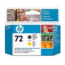 HP HP72 プリントヘッド マットブラック/イエロー C9384A