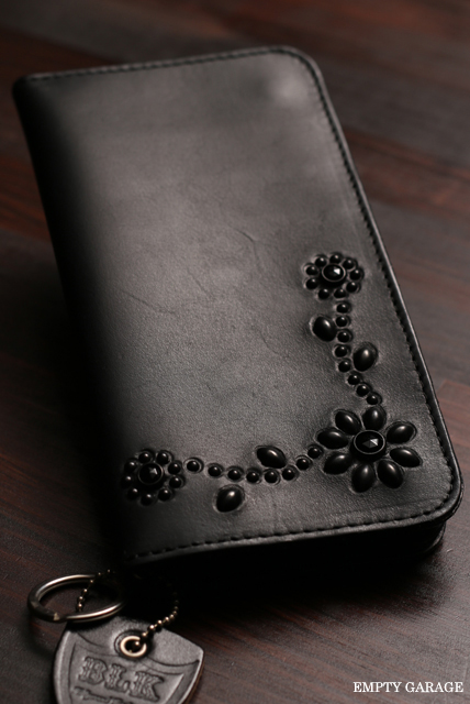 """""HTC BLACK"""" LONG WALLET T-023 black on black"
