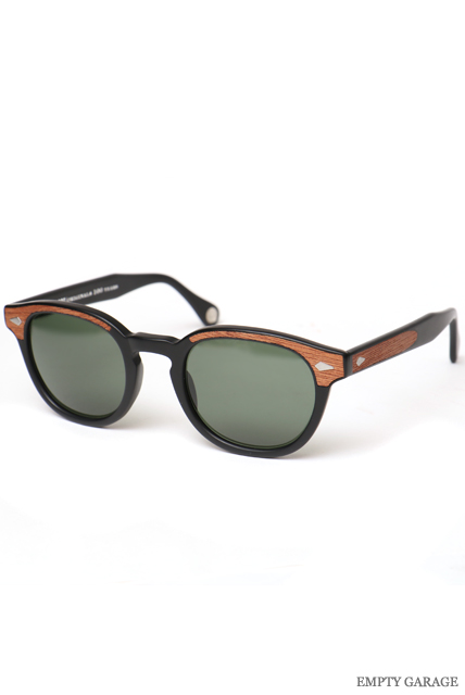 "MOSCOT モスコット 100周年記念モデル LEMTOSH ""Matte Black Wood"" Polarized G15 Lenses"