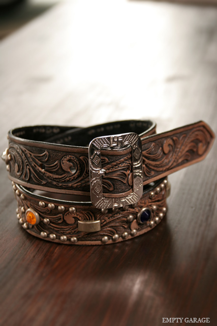ROOSTERKING & CO. カービングスタッズベルト CARVING STUDS BELT