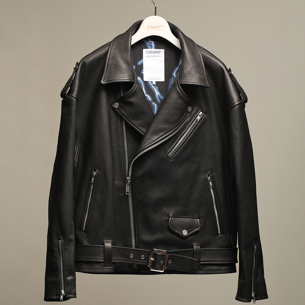 EMPTY GARAGE 限定販売 FindersKeepers FK-RIDERS NYC JACKET 4th Black Cowhide / Horsehide