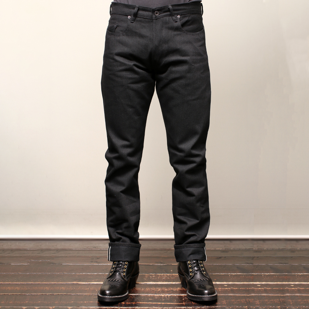 Stevenson Overall Co. Monterey - 110 SLIM TAPERED TAPERED LEG Black Denim Pants