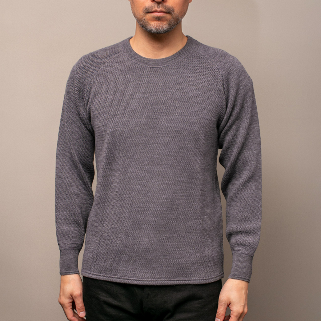 STEVENSON OVERALL Co. Wool Thermal Long Sleeve - WL Merino Wool ウールサーマルシャツ