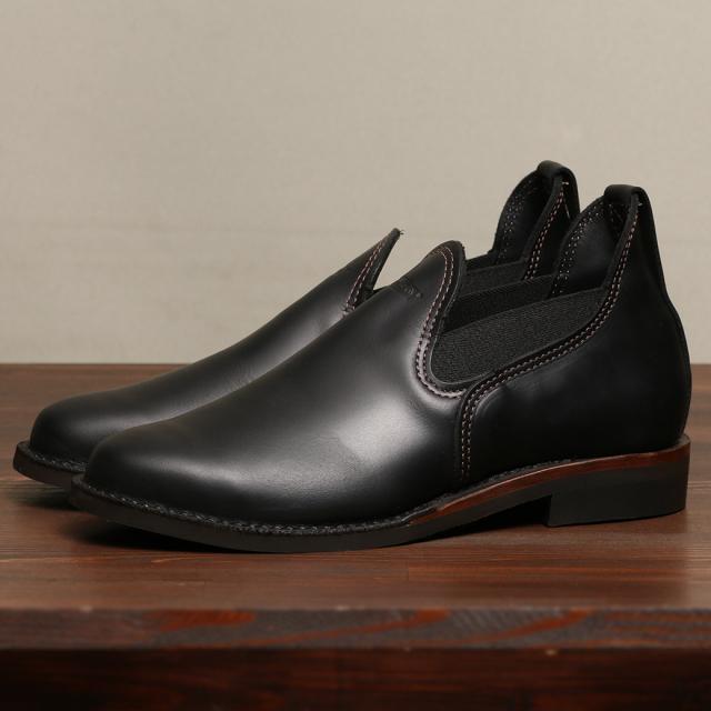 [ウエスコ] WESCO Romeo Boots ロメオ サイドゴア ブーツ ブラックタイレザー  MP Toe