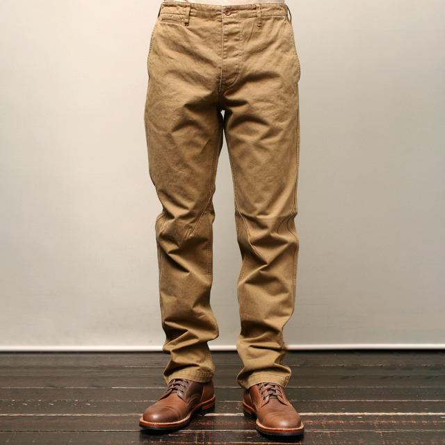 Stevenson Overall Co. Colts 732 SLIM FIT CHINO TROUSER Brown スリムチノパンツ