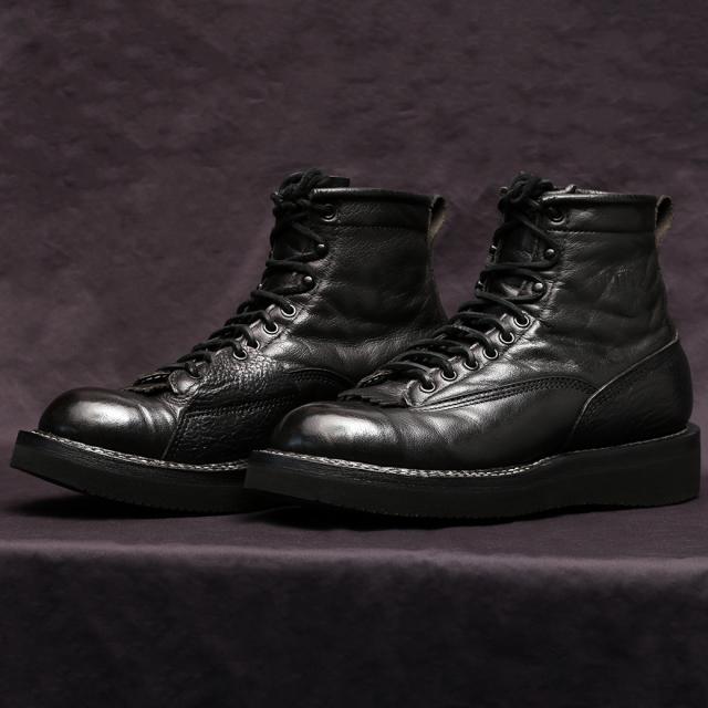 [ホワイツ] WHITE'S BOOTS Oxford C461 Last LTT BLK バッファロ/ブルハイド