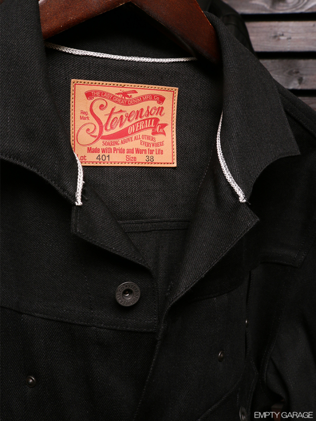 STEVENSON OVERALL CO. Slinger - 401 RIVET PLEATED WORK JACKET Black