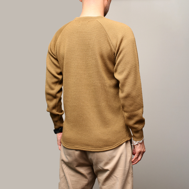 STEVENSON OVERALL Co. Wool Thermal Long Sleeve - WL Merino Wool Khaki