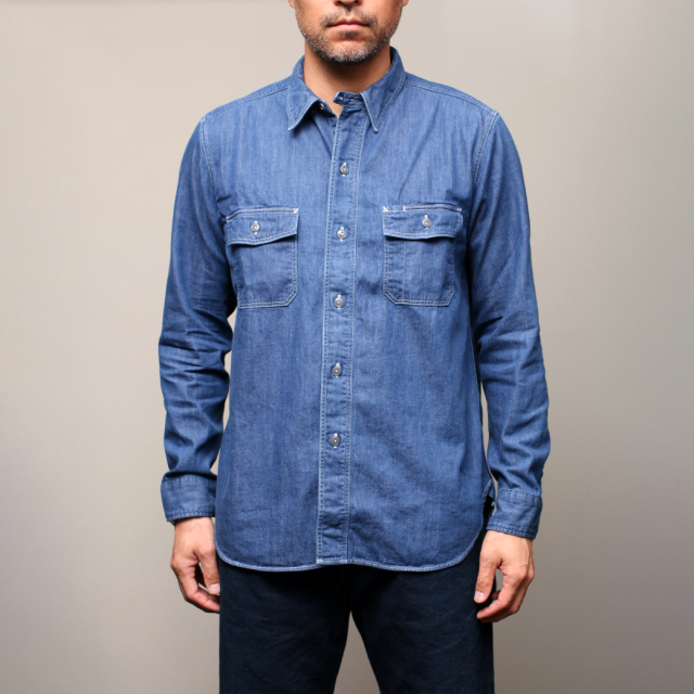 STEVENSON OVERALL Co. Unionist - UI2 WORK SHIRT Faded Indigo