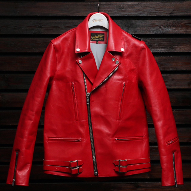 FindersKeepers FK-W.RIDERS JACKET U.K. STYLE RED HORSEHIDE