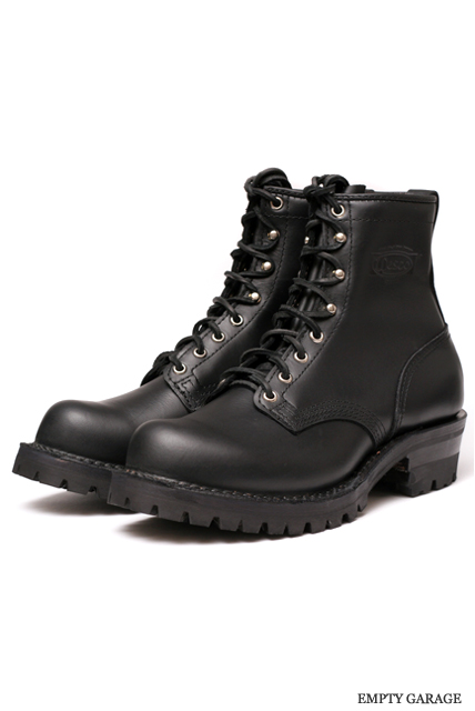 "[ウエスコ] WESCO BOOTS PACKER BT 8""""ALL BLKステッチ Bubble Toe Last"