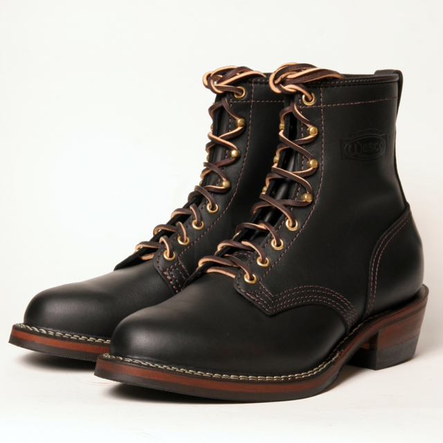 [ウエスコ] WESCO BOOTS PACKER 8丈 CUSTOM BLK SMOOTH #269ソール