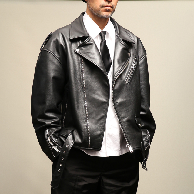 FindersKeepers FK-RIDERS NYC JACKET 4th Black Cowhide オーバーサイズ