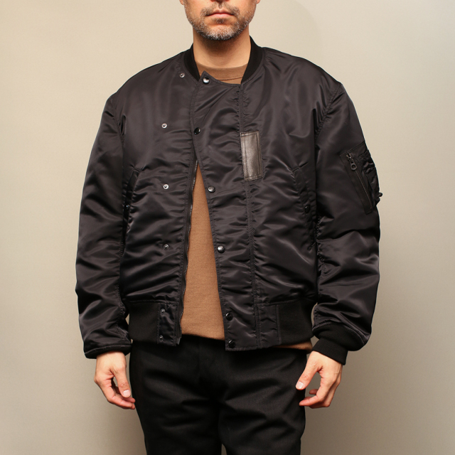 STEVENSON OVERALL Co. Intercepter - IC2 FLIGHT JACKET Black フライトジャケット
