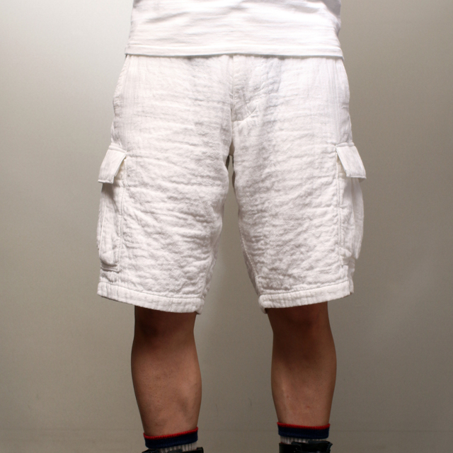 スティーブンソン オーバーオールズ Stevenson Overall Co. Rangefinder Shorts - RS1 White
